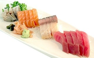 Different types of sashimi