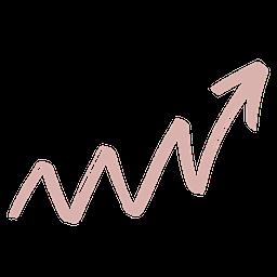 Upward arrow to visualize upward trend in grades