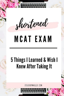 a blog post about the shortened mcat exam