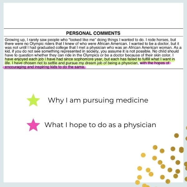 personal statement examples for medical school