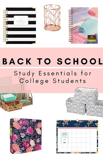 college study essentials